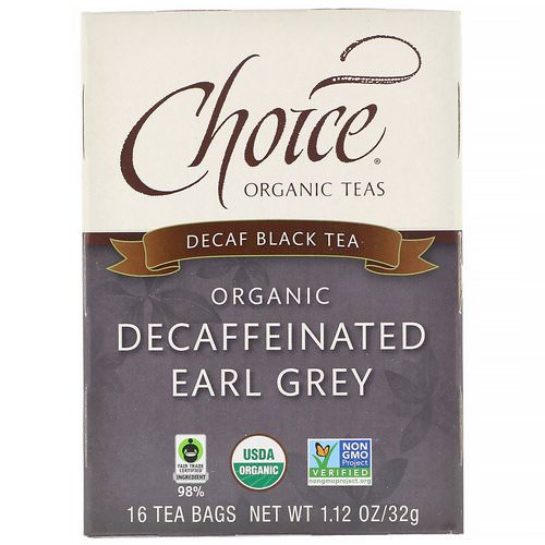 Choice Organic Teas, Organic Decaffeinated Earl Grey, Decaf Black Tea, 16 Tea Bags, 1.12 oz (32 g) فوائد