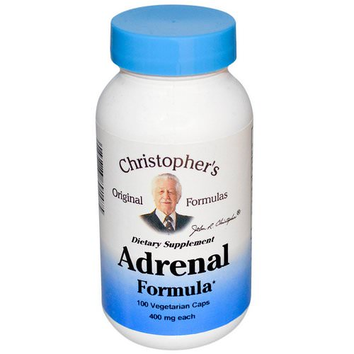 Christopher's Original Formulas, Adrenal Formula, 400 mg, 100 Veggie Caps فوائد