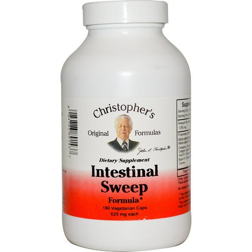 Christopher's Original Formulas, Intestinal Sweep Formula, 625 mg, 180 Veggie Caps فوائد