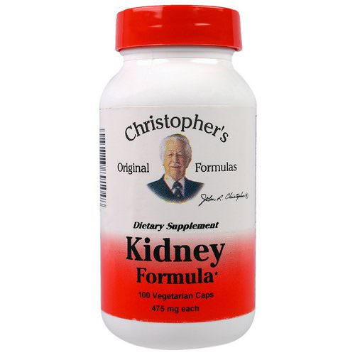 Christopher's Original Formulas, Kidney Formula, 475 mg, 100 Veggie Caps فوائد
