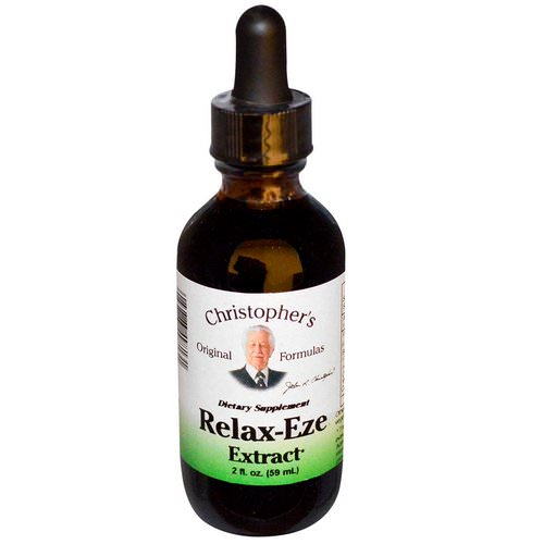 Christopher's Original Formulas, Relax-Eze Extract, 2 fl oz (59 ml) فوائد