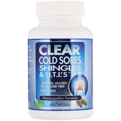 Clear Products, Clear Cold Sores, Shingles & U.T.I.'s, 60 Capsules فوائد