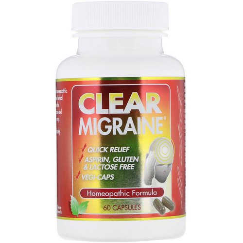 Clear Products, Clear Migraine, 60 Capsules فوائد