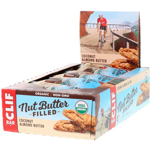 Clif Bar, Organic, Nut Butter Filled Energy Bar, Coconut Almond Butter, 12 Energy Bars, 1.76 oz (50 g) Each فوائد