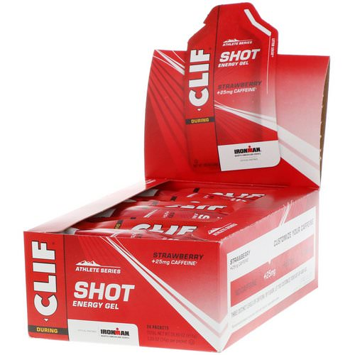 Clif Bar, Shot Energy Gel, Strawberry + 25 mg Caffeine, 24 Packets, 1.2 oz (34 g) Each فوائد