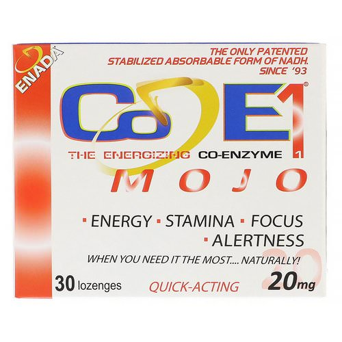 ENADA, The Energizing Co-Enzyme, Mojo, 20 mg, 30 Lozenges فوائد