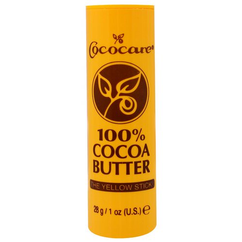 Cococare, 100% Cocoa Butter, The Yellow Stick, 1 oz (28 g) فوائد