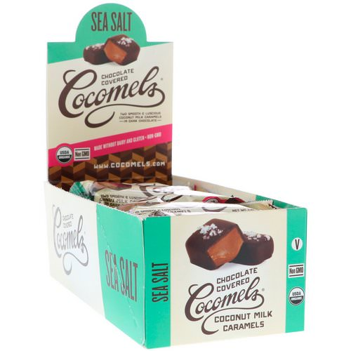 Cocomels, Organic, Chocolate Covered Coconut Milk Caramels, Sea Salt, 15 Units, 1 oz (28 g) Each فوائد