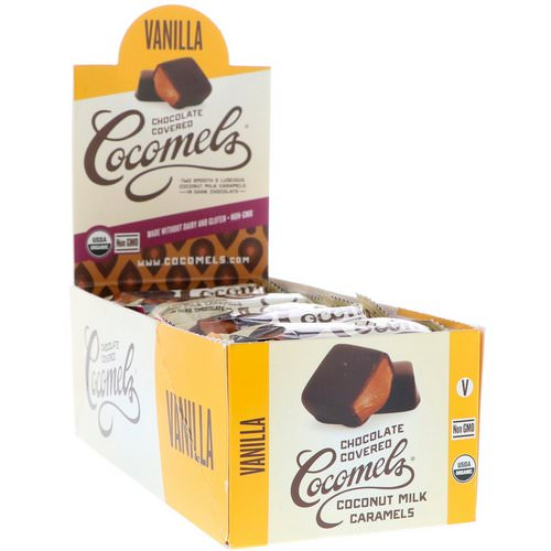 Cocomels, Organic, Chocolate Covered Coconut Milk Caramels, Vanilla, 15 Units, 1 oz (28 g) Each فوائد