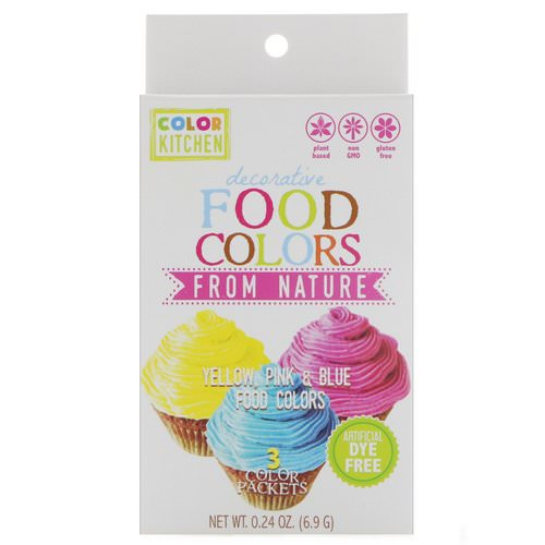ColorKitchen, Decorative, Food Colors From Nature, 3 Color Packets, 0.24 oz (6.9 g) فوائد