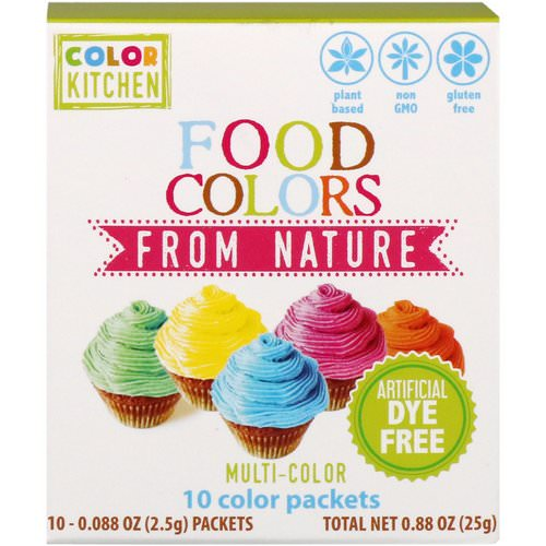 ColorKitchen, Food Colors From Nature, Multi-Color, 10 Color Packets, 0.088 oz (2.5 g) Each فوائد