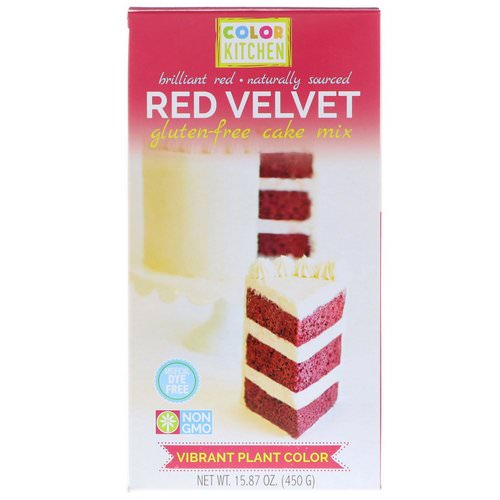 ColorKitchen, Gluten-Free Cake Mix, Red Velvet, 15.87 oz (450 g) فوائد