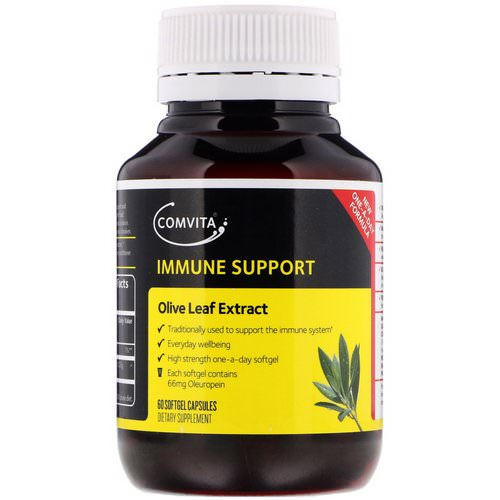 Comvita, Immune Support, Olive Leaf Extract, 60 Softgel Capsules فوائد
