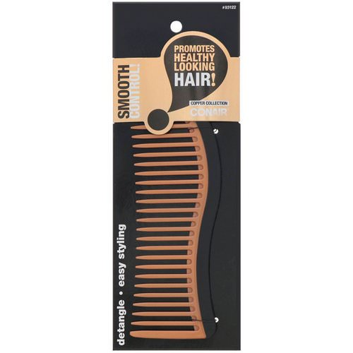 Conair, Copper Collection, Detangling Comb, 1 Comb فوائد