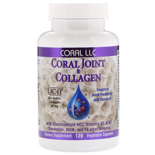 CORAL LLC, Coral Joint & Collagen, 120 Vegetable Capsules فوائد