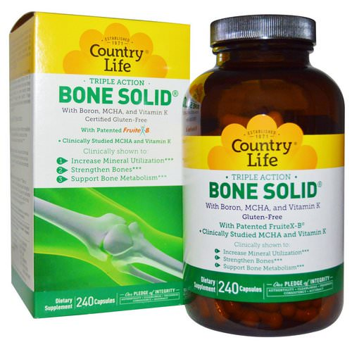 Country Life, Bone Solid, 240 Capsules فوائد