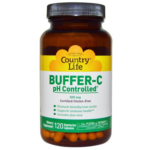 Country Life, Buffer-C, pH Controlled, 500 mg, 120 Veggie Caps فوائد
