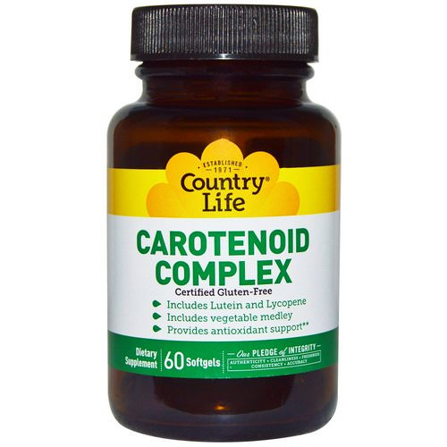 Country Life, Carotenoid Complex, 60 Softgels فوائد