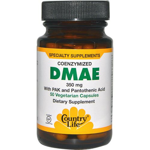 Country Life, DMAE, Coenzymized, 350 mg, 50 Veggie Caps فوائد
