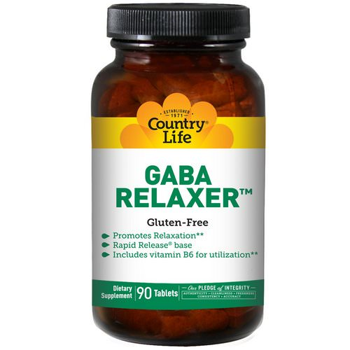 Country Life, GABA Relaxer, 90 Tablets فوائد