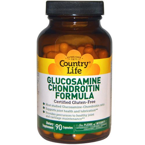 Country Life, Glucosamine Chondroitin Formula, 90 Capsules فوائد