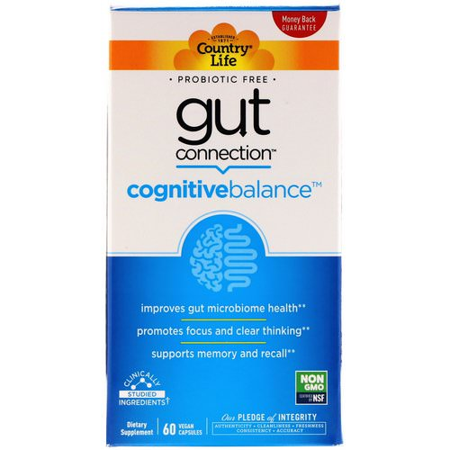 Country Life, Gut Connection, Cognitive Balance, 60 Vegan Capsules فوائد