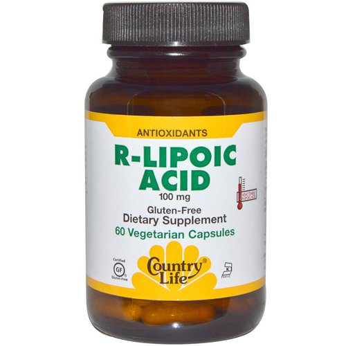 Country Life, R-Lipoic Acid, 100 mg, 60 Veggie Caps فوائد