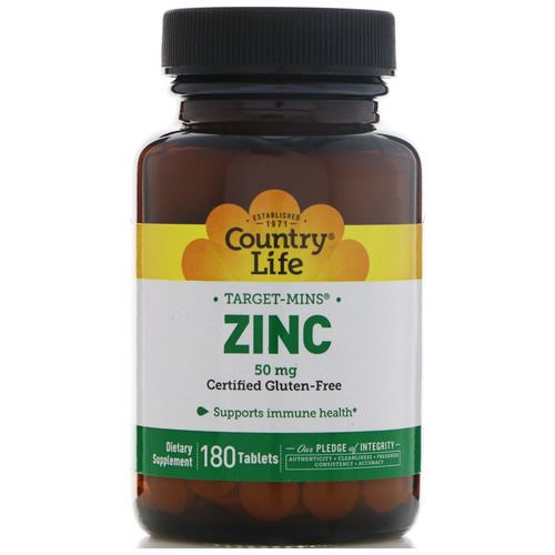 Country Life, Zinc, 50 mg, 180 Tablets فوائد