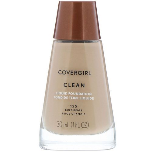 Covergirl, Clean, Liquid Foundation, 125 Buff Beige, 1 fl oz (30 ml) فوائد