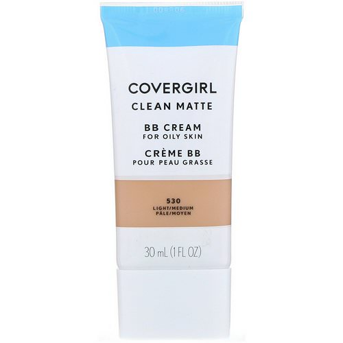 Covergirl, Clean Matte BB Cream, 530 Light/Medium, 1 fl oz (30 ml) فوائد
