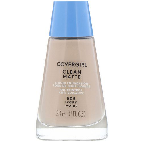 Covergirl, Clean Matte Liquid Foundation, 505 Ivory, 1 fl oz (30 ml) فوائد