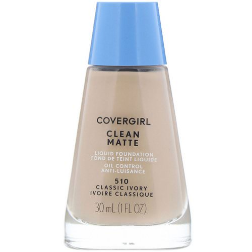 Covergirl, Clean Matte Liquid Foundation, 510 Classic Ivory, 1 fl oz (30 ml) فوائد