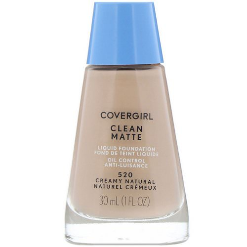 Covergirl, Clean Matte Liquid Foundation, 520 Creamy Natural, 1 fl oz (30 ml) فوائد