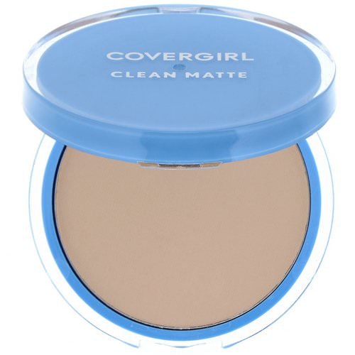 Covergirl, Clean Matte, Pressed Powder, 525 Buff Beige, .35 oz (10 g) فوائد