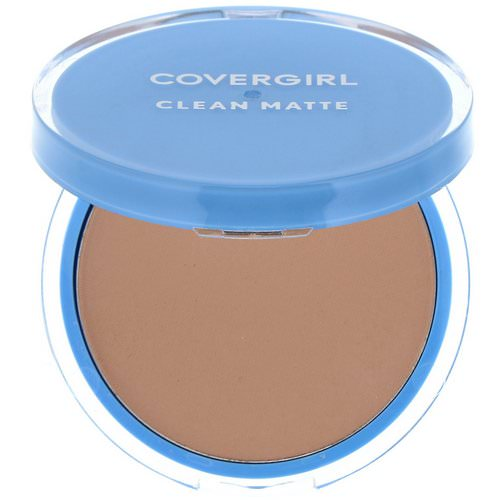 Covergirl, Clean Matte, Pressed Powder, 535 Medium Light, .35 oz (10 g) فوائد