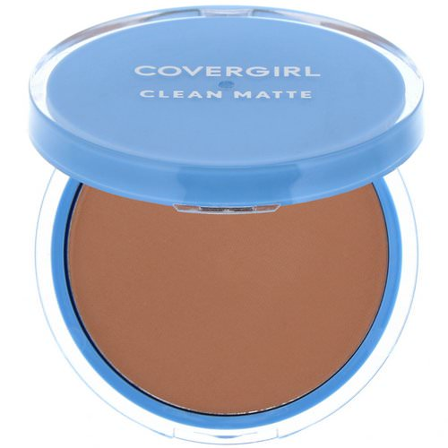Covergirl, Clean Matte, Pressed Powder, 545 Warm Beige, .35 oz (10 g) فوائد