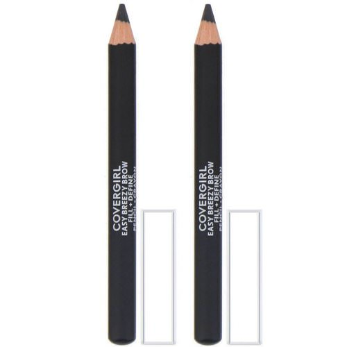 Covergirl, Easy Breezy, Brow Fill + Define Pencils, 500 Black, 0.06 oz (1.7 g) فوائد