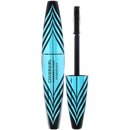 Covergirl, Peacock Flare, Waterproof Mascara, 820 Extreme Black, .34 fl oz (10 ml) فوائد