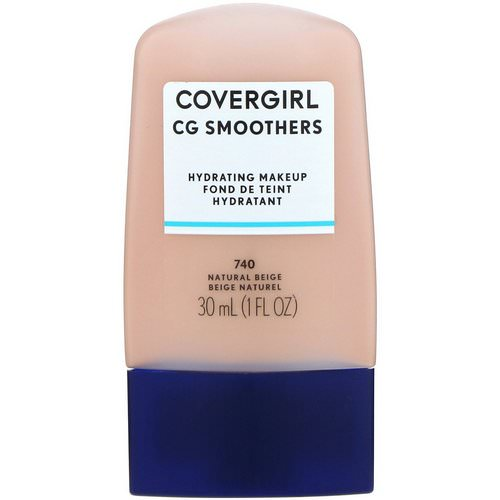 Covergirl, Smoothers, Hydrating Makeup, 740 Natural Beige, 1 fl oz (30 ml) فوائد