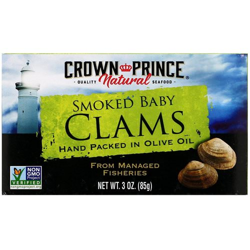 Crown Prince Natural, Smoked Baby Clams in Olive Oil, 3 oz (85 g) فوائد