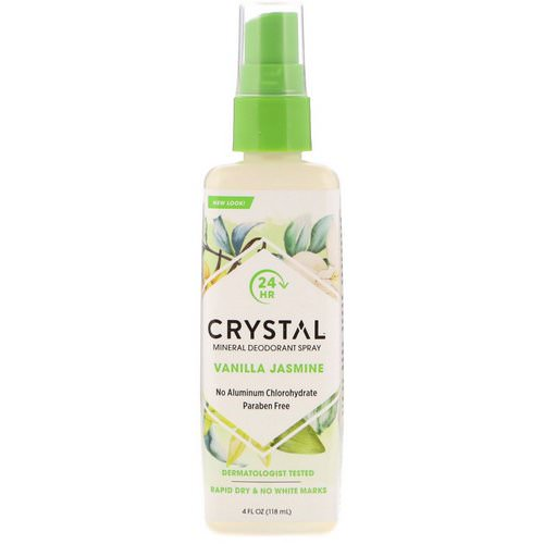 Crystal Body Deodorant, Mineral Deodorant Spray, Vanilla Jasmine, 4 fl oz (118 ml) فوائد