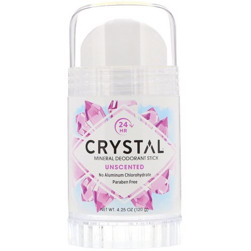Crystal Body Deodorant, Mineral Deodorant Stick, Unscented, 4.25 oz (120 g) فوائد