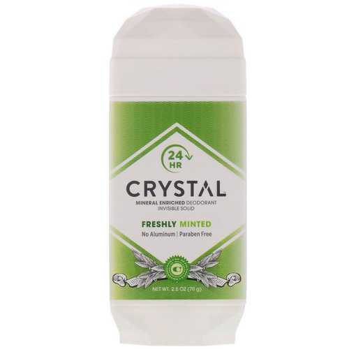 Crystal Body Deodorant, Mineral Enriched Deodorant, Invisible Solid, Freshly Minted, 2.5 oz (70 g) فوائد