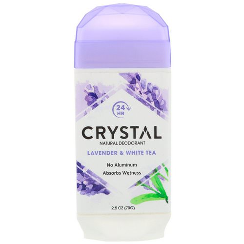 Crystal Body Deodorant, Natural Deodorant, Lavender & White Tea, 2.5 oz (70 g) فوائد