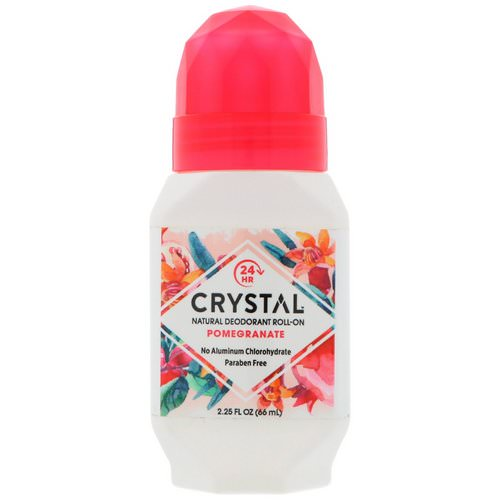 Crystal Body Deodorant, Natural Deodorant Roll-On, Pomegranate, 2.25 fl oz (66 ml) فوائد