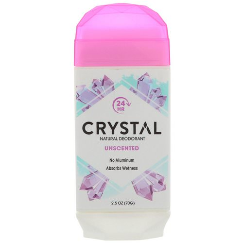 Crystal Body Deodorant, Natural Deodorant, Unscented, 2.5 oz (70 g) فوائد