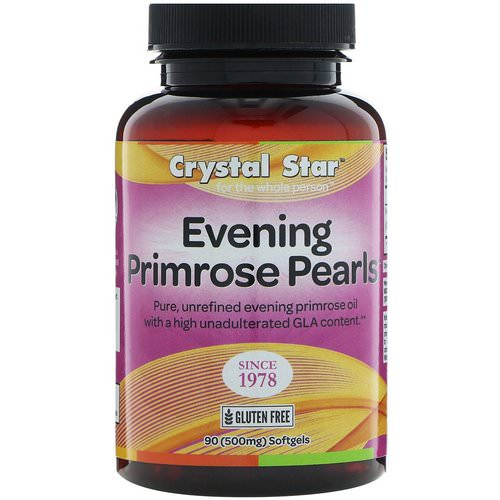 Crystal Star, Evening Primrose Pearls, 500 mg, 90 Softgels فوائد
