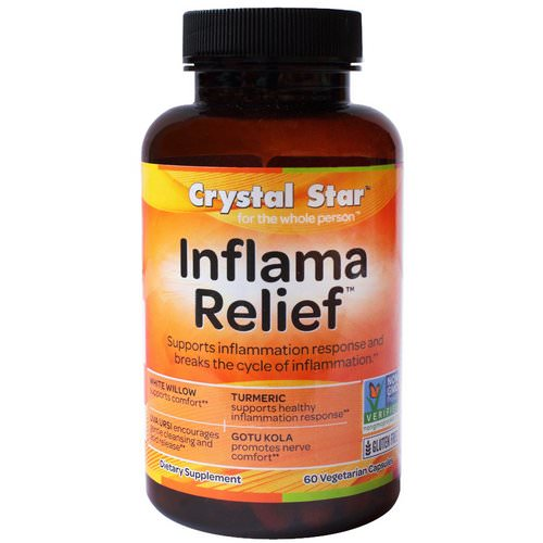 Crystal Star, Inflamma Relief, 60 Veggie Caps فوائد
