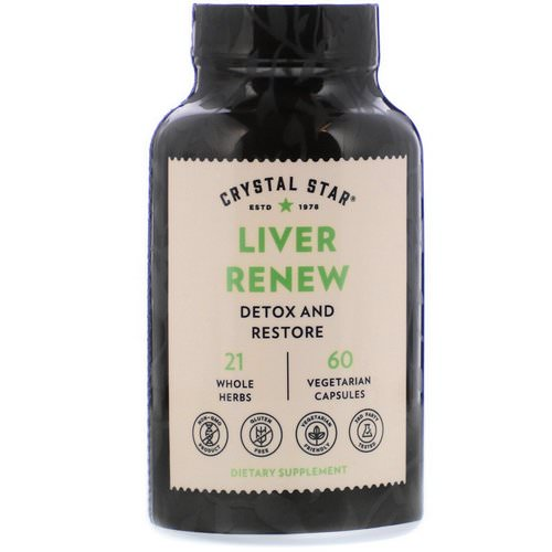Crystal Star, Liver Renew, 60 Vegetarian Capsules فوائد
