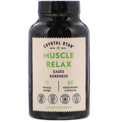 Crystal Star, Muscle Relax, 60 Vegetarian Capsules فوائد